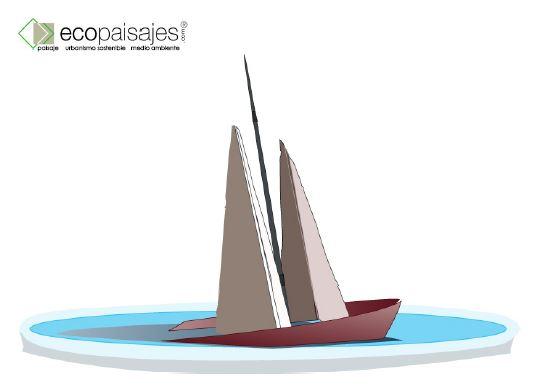 Barco acero corten y aluminio